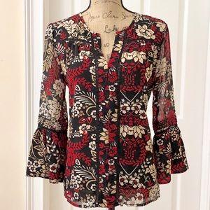 Fever floral boho blouse